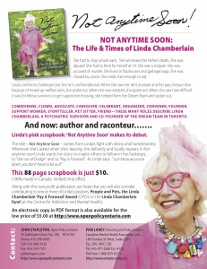 Linda Chamberlain's Book Poster - Not Any Time Soon