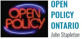 Open Policy Ontario - John Stapleton