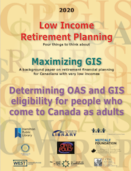 Cover for Retiring on a low income booklet